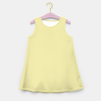 Miniatur color pale goldenrod Girl's summer dress, Live Heroes