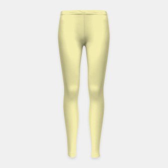 Miniatur color pale goldenrod Girl's leggings, Live Heroes