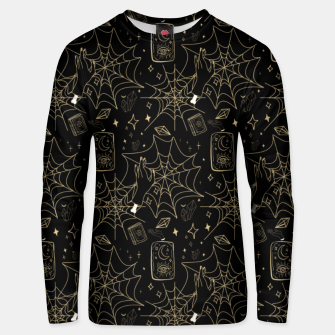 Thumbnail image of Gothic Halloween Witch Hand Gold Unisex sweater, Live Heroes