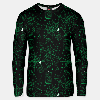 Thumbnail image of Gothic Halloween Witch Hand Green Unisex sweater, Live Heroes
