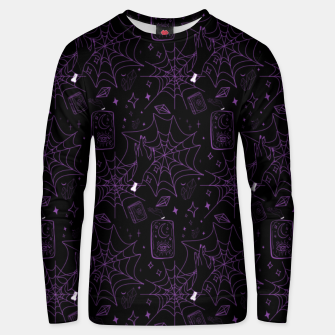 Thumbnail image of Gothic Halloween Witch Hand Purple Unisex sweater, Live Heroes