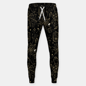 Miniatur Gothic Halloween Witch Hand Gold Sweatpants, Live Heroes