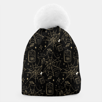 Thumbnail image of Gothic Halloween Witch Hand Gold Beanie, Live Heroes