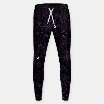 Miniatur Gothic Halloween Witch Hand Purple Sweatpants, Live Heroes