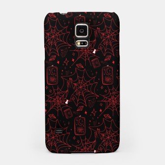 Miniatur Gothic Halloween Witch Hand Red Samsung Case, Live Heroes