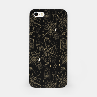 Miniatur Gothic Halloween Witch Hand Gold iPhone Case, Live Heroes