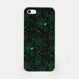 Miniatur Gothic Halloween Witch Hand Green iPhone Case, Live Heroes