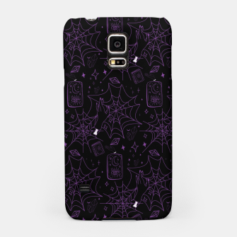 Miniatur Gothic Halloween Witch Hand Purple Samsung Case, Live Heroes