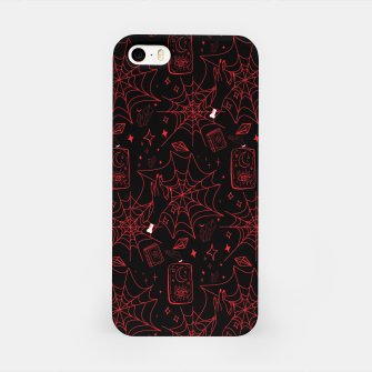 Miniatur Gothic Halloween Witch Hand Red iPhone Case, Live Heroes