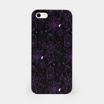 Miniatur Gothic Halloween Witch Hand Purple iPhone Case, Live Heroes