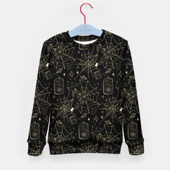 Thumbnail image of Gothic Halloween Witch Hand Gold Kid's sweater, Live Heroes