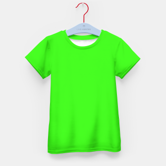 Thumbnail image of color neon green Kid's t-shirt, Live Heroes