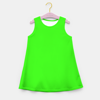 Thumbnail image of color neon green Girl's summer dress, Live Heroes