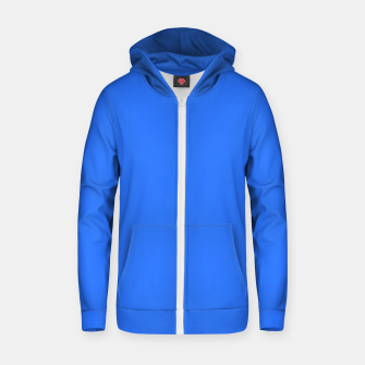 Thumbnail image of color deep electric blue Zip up hoodie, Live Heroes