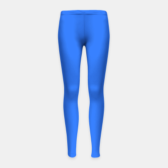 Thumbnail image of color deep electric blue Girl's leggings, Live Heroes