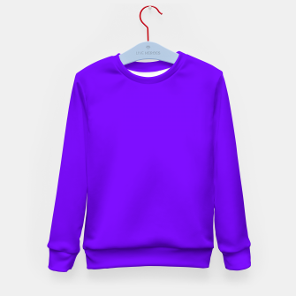 Thumbnail image of color electric indigo Kid's sweater, Live Heroes