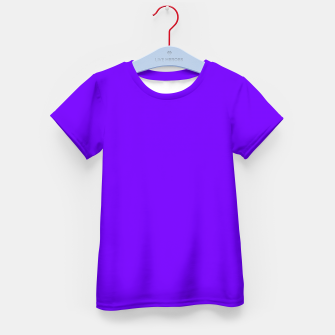 Thumbnail image of color electric indigo Kid's t-shirt, Live Heroes