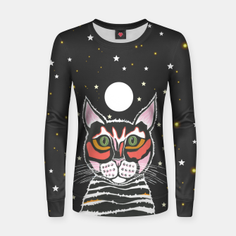 Thumbnail image of Moon Cat Women sweater, Live Heroes