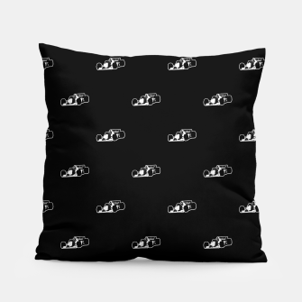 Thumbnail image of Formula One Black and White Graphic Pattern Pillow, Live Heroes
