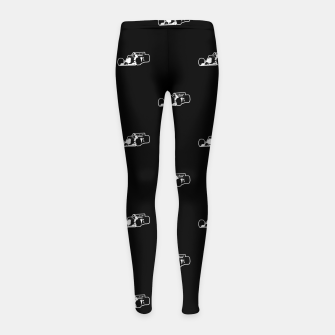 Thumbnail image of Formula One Black and White Graphic Pattern Girl's leggings, Live Heroes
