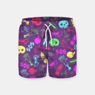 Miniatur Cool Stuff Color Swim Shorts, Live Heroes