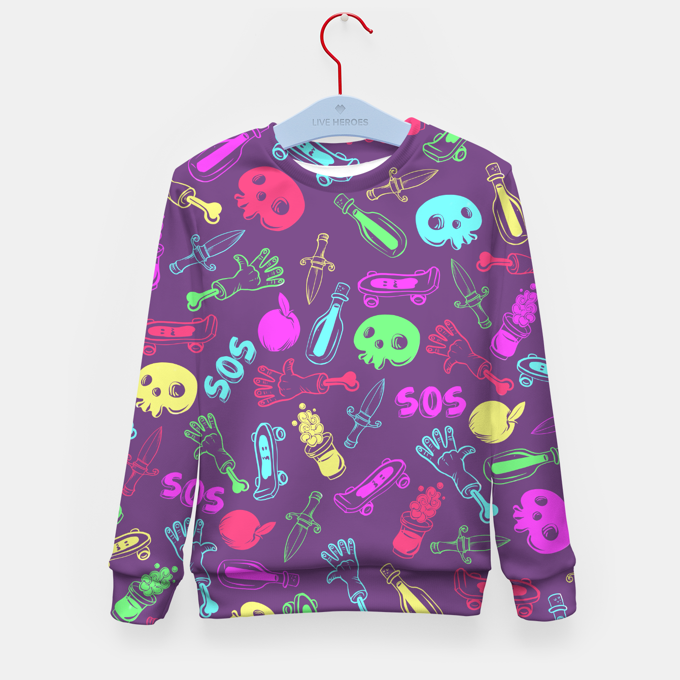 Foto Cool Stuff Color Kid's sweater - Live Heroes