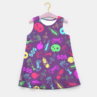 Miniatur Cool Stuff Color Girl's summer dress, Live Heroes