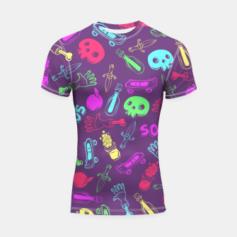 Miniatur Cool Stuff Color Shortsleeve rashguard, Live Heroes