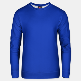 Thumbnail image of color Egyptian blue Unisex sweater, Live Heroes