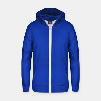 Thumbnail image of color Egyptian blue Zip up hoodie, Live Heroes