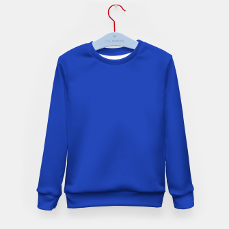 Thumbnail image of color Egyptian blue Kid's sweater, Live Heroes