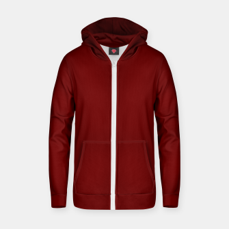 Thumbnail image of color blood red Zip up hoodie, Live Heroes