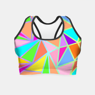 Thumbnail image of Vibrant Geometric Crop Top, Live Heroes