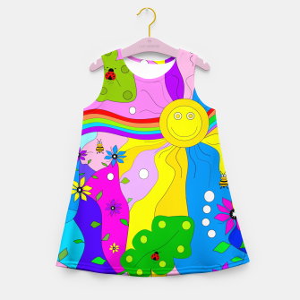 Thumbnail image of Flamboyant Nature Girl's summer dress, Live Heroes