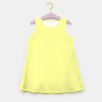 Miniaturka color canary yellow Girl's summer dress, Live Heroes