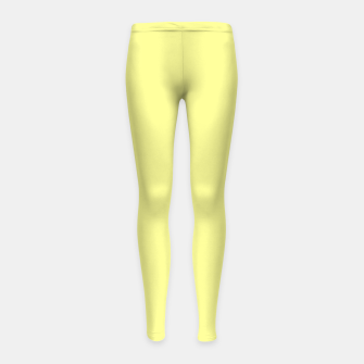 Miniaturka color canary yellow Girl's leggings, Live Heroes