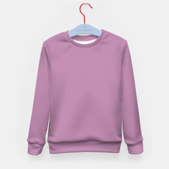 Thumbnail image of color mauve Kid's sweater, Live Heroes