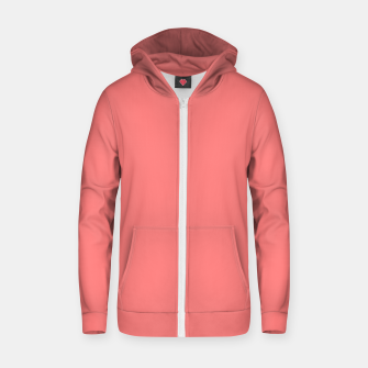 Thumbnail image of color light red Zip up hoodie, Live Heroes