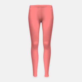 Thumbnail image of color light red Girl's leggings, Live Heroes