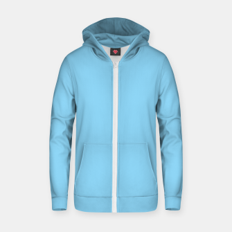 Thumbnail image of color baby blue Zip up hoodie, Live Heroes