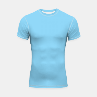 Thumbnail image of color baby blue Shortsleeve rashguard, Live Heroes