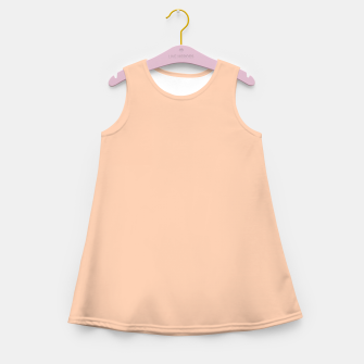 Miniatur color apricot Girl's summer dress, Live Heroes