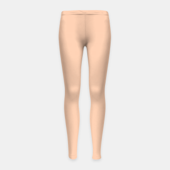 Thumbnail image of color apricot Girl's leggings, Live Heroes