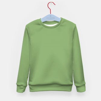 Miniatur color asparagus Kid's sweater, Live Heroes