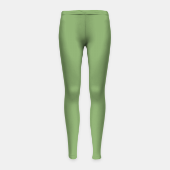 Thumbnail image of color asparagus Girl's leggings, Live Heroes