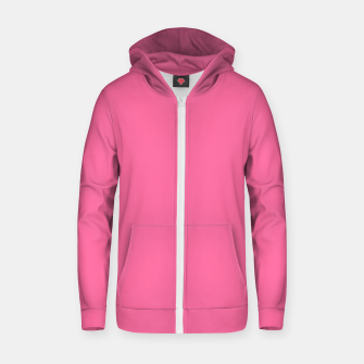 Miniatur color French pink Zip up hoodie, Live Heroes