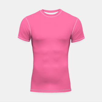 Miniatur color French pink Shortsleeve rashguard, Live Heroes