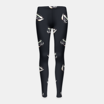 Miniaturka Angry Man Pencil Drawing Girl's leggings, Live Heroes