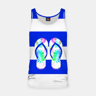 Thumbnail image of Beach Babe Blue Tank Top, Live Heroes