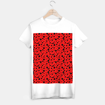 Miniatur Ladybug style - scarlet red background and black polka dots T-shirt regular, Live Heroes